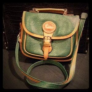 Dooney & Bourke Green Leather CrossBody Purse